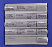 Présentoir mural plexi petites annonces - 20 cases format A6.