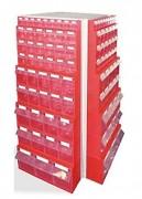 Présentoir pivotant pour bacs à bec - 192, 248 ou 260 tiroirs
