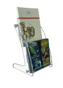 Présentoir plexi 2 cases - Pour des formats jusqu'au A4.