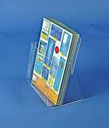 Présentoir plexi comptoir - Capacité : 4 cm - Dimensions 10 x 21 cm ou 15 x 21 cm