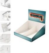 Présentoir PLV en carton - Dimensions : l 275 x H 258 x P 260 mm
