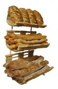 Présentoir pour boulangeries - Dimensions (L x P x H) cm : 40 x 35 x 61