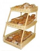 Présentoir pour pâtisseries en osier - Dimensions (L x P x H) cm : 35 x 50 x 59
