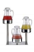 Présentoir pour pichets jus de fruit acrylique - 3 niveaux - poids : 3.71 kg
