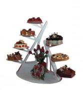 Présentoir pour plats - Dimensions : 70 x 40 x 88 cm - aluminium laqué