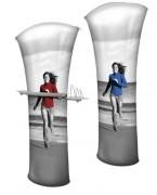 Présentoir publicitaire double face - Dimensions : 940 x 2230 mm