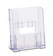 Présentoir transparent pour brochures - Styrène moulé par injection