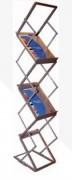 Présentoir zigzag pliable - Format : 6 x A4