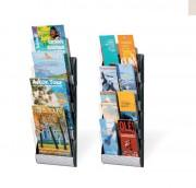 Présentoirs muraux intégral 4 cases A4 - Capacité : 4 cases A4 - 4 cases : A5 ou 1/3A4