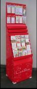 Présentoirs pour carte - Carton rouge - PxLxH : 45x54x145