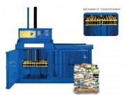 Presse à balle bouteille verticale - Force de compression Jusqu'à 8 tonnes Niveau sonore 64-68 dB