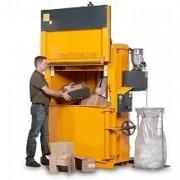 Presse à balles verticale à rouleaux - Poids des balles de carton : 280 – 350 kg