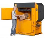 Presse carton 25 tonnes - Poids des balles de carton : 200 – 300 kg