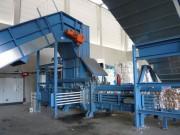 Presse de déchets à canal - Disponible en 3 versions : 55 ; 75 ; 90 kw