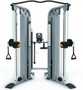 Presse de musculation à double poulie - Charge max: 77Kg x 2