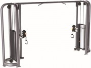 Presse de musculation Crossover Vis-à-vis en acier - Charge max : 132 Kg - Dimensions L x l x H : 3890 x 790 x 2210 mm