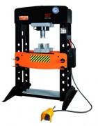 Presse hydraulique 100T - Pompe double effet  -  Piston chromé coulissant