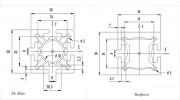 Profilé aluminium 50x50 - Prs 11501, 11502