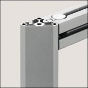 Profilé aluminium 6 30x30-45° léger naturel - Profilé léger naturel