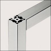 Profilé aluminium 8 40x40 2N90 léger naturel - Profilé aluminium  2N90 léger naturel