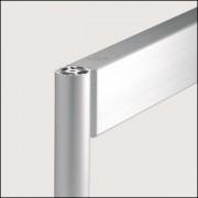 Profilé aluminium 8 D40 4N naturel - Profilé 8 D40 4N