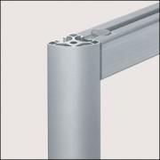 Profilé aluminium 8 R40-90° léger naturel - Profilé  8 R40-90°