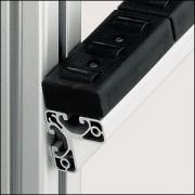 Profilé aluminium 8 W40x40 E naturel - Profilé 8 W40x40 E