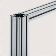 Profilé aluminium anodisé - Profilé 6 60x60 léger naturel