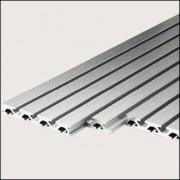 Profilé aluminium connexion plaque 8 55x20 naturel - Profilé connexion plaque