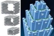 Profilé aluminium télescopique - Dimensions (Lxh) mm : de 40 x 40 à 160 x 160