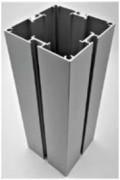 Profilé carré en aluminium 4 directions - Profilé carré en alu anodisé 91 x 91 mm