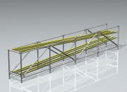 Profilé tubulaire pour structures modulaires - En aluminium