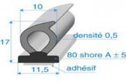 Profilés bi-dureté adhésivés - Rouleaux de 25 ml à 100 ml - Poids spécifiques : De 17 g/m à 145 g/m