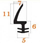 Profilés compacts destinés à la menuiserie - Matière : Epdm Noir - Longueur maxi : 25 ml