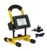 Projecteur LED portatif et rechargeable - Puissance: 10 Watts, 600 Lumens - C E Approved
