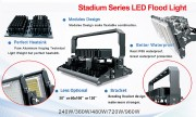 Projecteur led stade 500 à 1000w - Projecteur de 45000 à 100000 lumens pour stade