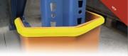 Protection d'angle caoutchouc plate ou arrondie - PVC - Coloris Jaune