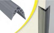 Protection d'angle de mur plat à coller 50 x 50 mm
