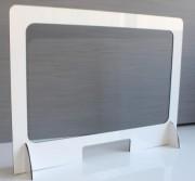 Protection de caisse ou comptoir - Matière : Alupanel + polycarbonate - Dimension : 100 x 74,5 cm - Classé M1 : non feu