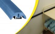 Protection de surface lisse murale demi-lune - Dimensions (L x l x H) mm : 5000 x 40 x 22