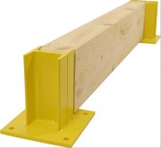Protection industrielle bastaing bois - 3 types de supports inclus