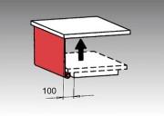Protection latérale en PVC à enrouler pour table élévatrice - Option