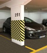 Protection murale adhésive parking - Feu M4