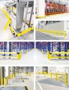 Protections industrielles - Poteaux, rails, barrières et racks de protection