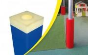 Protections souples pour poteaux en mousse - Diamètre : 200 cm - Hauteur : 2 m