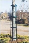 Protège arbres en acier - Hauteur totale (mm) : 1750