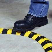 Protège câble articulé - Couleur : Noir / jaune - Système modulable