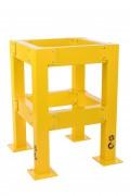 Protège colonne en acier - Hauteur : 1000 mm / Certifié par le TÜV