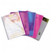 Protège document Lutin Vision 20 pochettes, 40 vues assortis translucide - Elba