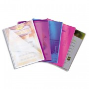 Protège document Lutin Vision 30 pochettes, 60 vues assortis translucide - Elba